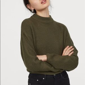 H&M Olive Cropped Knit